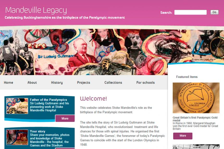 Screenshot for Mandeville Legacy website