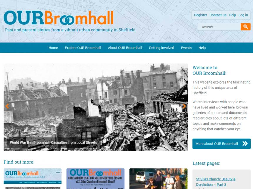 Screenshot of Our Broomhall home page